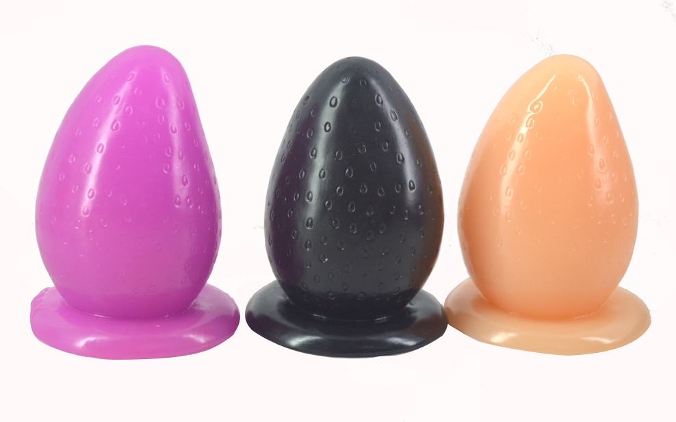 """FAAK Big anal plug with suction cup strawberry butt plug anus massage partical huge 3"""" thick anal stuffed stopper sex toys 9"""