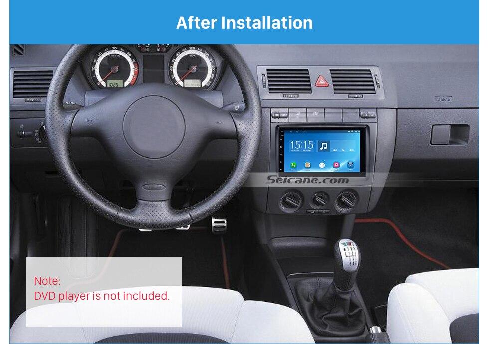 Autorradio diafragma marco para Skoda Fabia 6y Facelift a partir de 2004 hasta 2007 negro