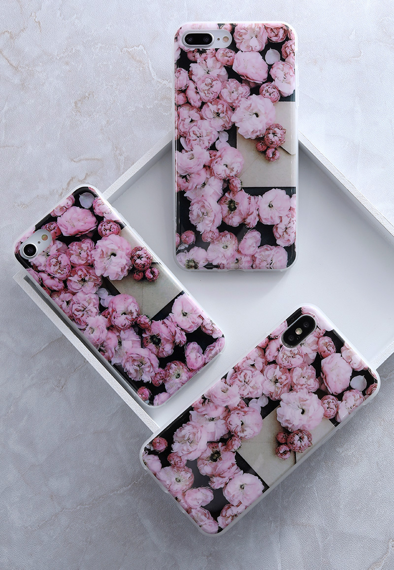 Iphone 5s 5 SE 6 6s 8 6/7/8 plus X Granite Scrub Marble Stone Painted Silicone Phone Case