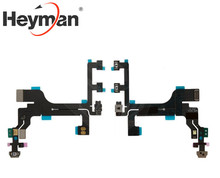 Heyman Flat Cable for Apple iPhone 5C Cell Phone, (start button, side buttons, with microphone, with components)(China)