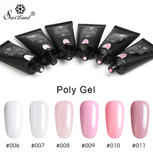 Saviland Poly Gel Finger Extension Crystal Jelly Poly gel Nail Art Design UV Hard Gel 30g Quick Building Gel Varnish(China)