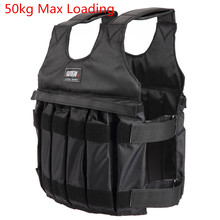 SUTEN 50kg Loading Weighted Vest For Boxing Training Equipment Adjustable Exercise Black Jacket Swat Sanda Sparring Protect