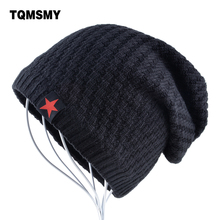 The New bonnet Red Star hat men's winter beanie man skullies Knitted wool beanies men Winter Hats Hip Hop caps Autumn gorros