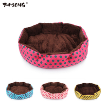 T-MENG Hot Sale Small Pet Dog Beds Keep Winter Warm Pet Kitten Puppy Cat Dog Cushion Sofa Bed Mat Pad Goods For Pet Supplier 94(China)