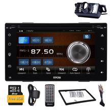 Car Capacitive screen Double 2 Din Car DVD Multimedia Player Auto Radio GPS In Dash Car PC Stereo Video Free Map Free Camer RDS