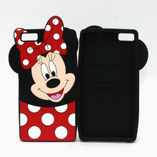 Luxury 3D cartoon cover silicon For Huawei Ascend P9 G9 Lite P9Lite Cartoon Minnie Mickey Mouse Phone case coque shell