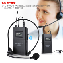 UHF Wireless Acoustic Transmission System 100m Effective Range  with Lavalier Microphone Earphone Conversion Cable