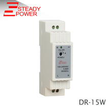 (DR-15-12)Hot sales China mainland 15w 12v Din Rail power supply single output led transformer for din rail(China)