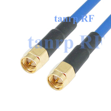 20inch SMA male plug to SMA male plug  RF adapter connector 50CM coaxial Flexible blue jacket jumper cable RG402 extension cord