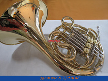 Newest 4-Key Double Bb/F French Horn Gold Lacquer With Case