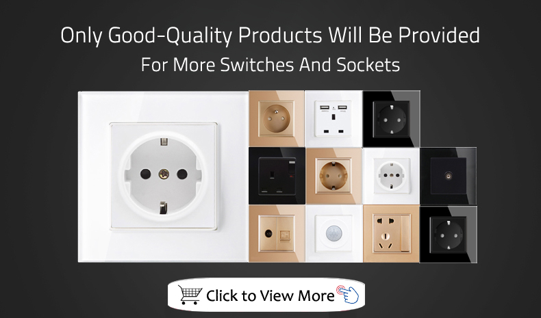EUUK Standard switch home Remote Control Switch 123 Gang 1 Way ,RF433 Wall Switch, Wireless remote control touch light switch