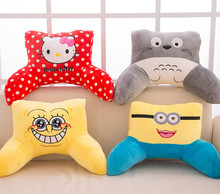 55cm sofa pillow cushion cartoon cute lumbar pillow chair pillow bedside back cushion, totoro hello kitty spongebob minion(China)
