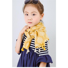 Hot Winter Scarf Fashion Baby Scarf Cotton Blends Boys Girls Neckerchief Head Neck Child Scarves Foulard Fillette