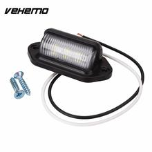 Vehemo 10-30V Bright 6 LED Number License Plate Tail Light Lamp Bulb for Motorcycle Boats Aircraft Automotive Trailer RV Truck(China)