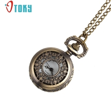 OTOKY Retro Leaves Vintage Style Pocket Chain Necklace Watch for quartz women watch reloj mujer #40 Gift 1 pcs