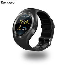 Y1 Smart Watch Round Support Nano SIM &TF Card With Bluetooth 3.0 Men Women Business Smartwatch For IOS Android(China)