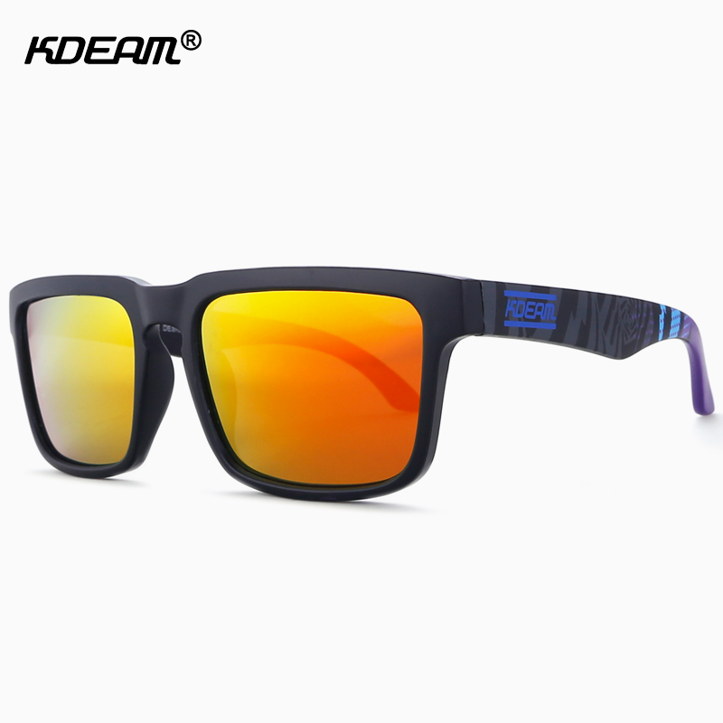 Newest Polarized Sunglasses Men Women KDEAM Sun Glasses UV Rays Outfits Blocking Light Sunglass With Hard Case Color No.20(China (Mainland))