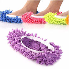 House Floor Foot Sock Shoe Mop Slipper Lazy Quick Polishing Cleaning Dust Fashion Cleaning Shoes Mops(China)