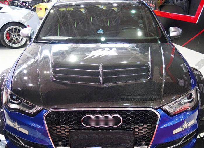 14-16 Audi A3 S3 KTS Style Carbon Fiber HOOD(3)