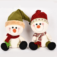 Happy New Year Plush Lovely Snowman Doll 27cm Christmas Decorations For Tree Christmas Decorations For Home 2017 Xmas Kids Gift(China)
