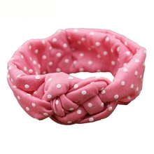 Newly Design 2015 Fashion Headband Children Dot Cross Weave Twist Head Bands Little Hair Accessories Aug4 Drop Shipping(China)