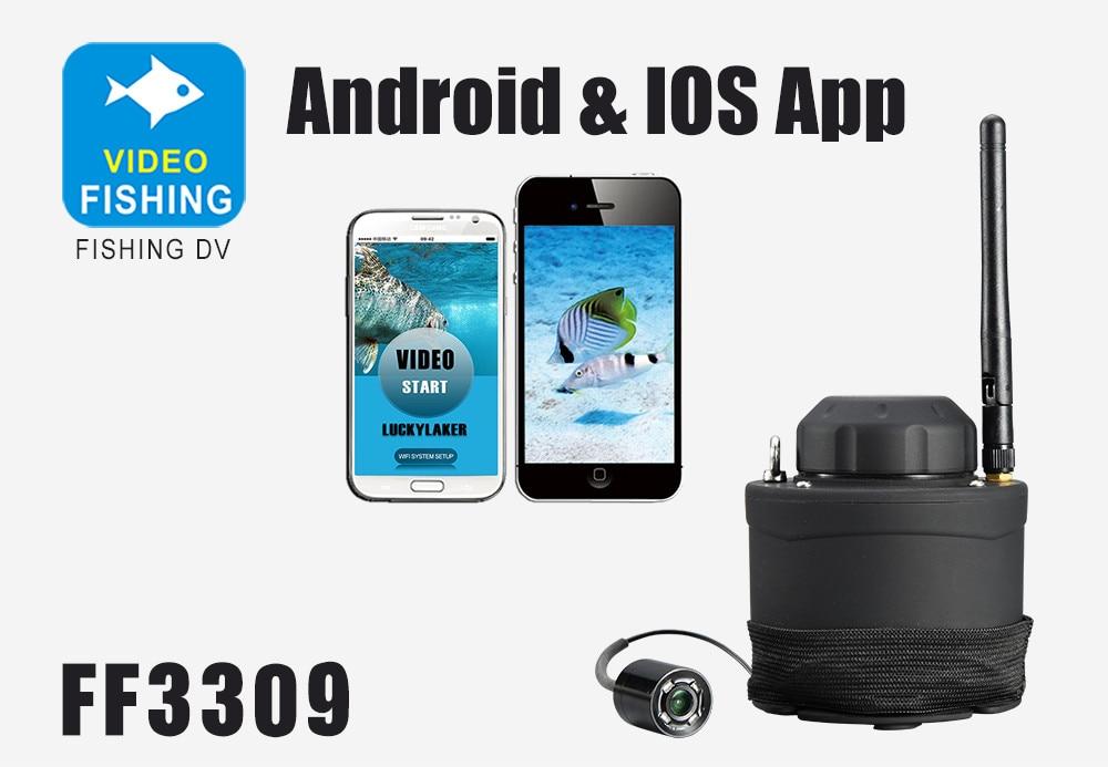 LUCKY Wifi Underwater Fishing Camera & Inspection 80m Wireless Operating Range Underwater Camera For Fishing FF3309 fishcam (2)