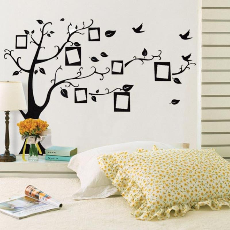 3D Wall Sticker Black Art Photo Frame Memory Tree Wall Stickers Home Decor Family Tree Wall Decal Removable Wallpaper mayitr