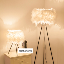 With brandreth trippod leg standing floor table light lamp foyer living bedroom white LED optional feather floor light lamp
