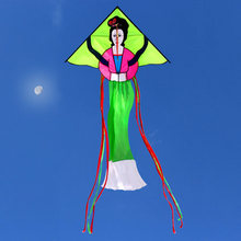 New Arrive Outdoor Fun Chiese Beauty Kite/ Chinese Traditional Kites With Handle & Line Good Flying(China)