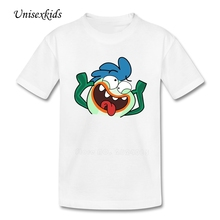 2017 Funny Face T Shirt Boy Girl Cute Picture Short Sleeve 100% Cotton t-shirts Children Costume Tops Printed Tee For kid