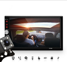 Hot 2 Din Car Video Player 7'' HD Touch Screen Bluetooth Stereo Radio In Dash Car MP3 MP4 MP5 Audio USB Auto Electronics
