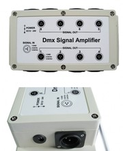DMX512 signal amplifier 8 Channel Output DMX LED Controller stage control station head shaking lamp Splitter Distributor New