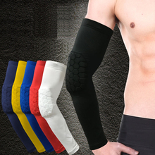 1PCS Elastic Gym Sport Basketball Arm Sleeve Shooting Crashproof Honeycomb Elbow Support Pads Elbow Protector Guard Sport Safety(China)