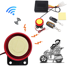 Universal Motorcycle Bike Alarm System Scooter Anti-theft Security Alarm System Remote Control Engine Start+Alarme Moto Speaker(China)