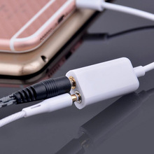 Valentine's Day 3.5 mm Earphone Headphone 1 Male for 2 Female Dual Audio Splitter Cable Adaptor Convenient for Couple Lover