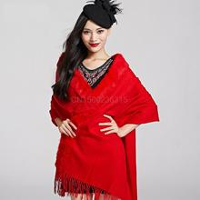Rex Rabbit Fur and large thick woolen female long wool scarf shawl and