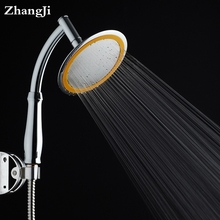 6 inches Chrome ABS plastic Bathroom shower head stainless steel panel water saving rain head Pressurized big showerheads ZJ108
