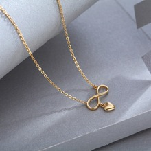 Fashion Wild 925 Silver Miss Paris Necklace Jewelry Light Golden Love Type For Girls Jewelry Gifts