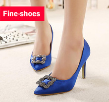 Size 35-39 Brand New 2016 High Quality Wedding Shoes Fashion Rhinestone Women Pumps High Heels Party Shoes 864