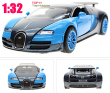 1/32 Blue Collection Alloy Bugatti Veyron Diecast Car Model Gift Light&Sound