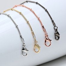 24 inch 1.2mm Snake Chain Necklace Rose Gold/Gold/Silver/Black Maxi Necklaces Fashion Jewelry YH-005(China)