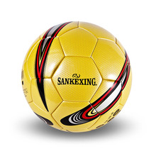 Free ship soccer ball No5&No4 PU leather football competition training professional football adhesive bonding ball for soccer C4