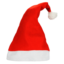 New fashion Christmas Cap Thick Ultra Soft Plush Santa Claus Christmas Holiday Hat