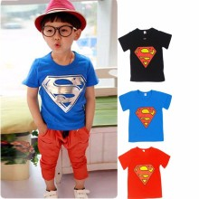 Summer Style Superman Girls Boys T Shirts Cartoon Printing Children's T-Shirts Kids Boys Clothes Child Tee