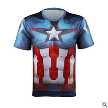 Men Crossfit Short Sleeve Compression Shirt 3D Anime Superman Captain America T Tights Fitness Tops & Tees - AAPING PAN Store store