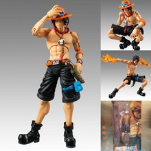 Anime One Piece MegaHouse Variable Action Heroes Juguetes One Piece Portgas D Ace PVC Action Figure Collectible Model Toy 18cm(China)