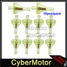 10x Gas Fuel Filter For Honda Yamaha Suzuki Kawasaki UTV Snowmobile ATV Pit Dirt Bike Motorcycle Motorcross