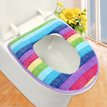 bathroom set colorful toilet set cover wc seat cover bath mat holder closestool lid cover Toilet seat cushion ZH01082