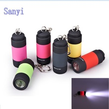 5 Color Ultra Bright Mini USB Rechargeable Led Light Lighting Lamp Flashlight Torch Keychain LED Light