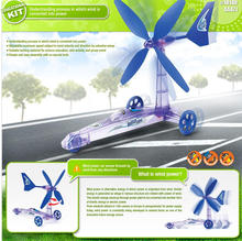 New Green Energy Removable Windmill Plane Assembled Toys,Build Your Own Wind Powered Car Older Boys Educational Science Kit Toys